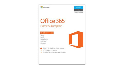 Microsoft Office 365 Home Subscription (Annual)