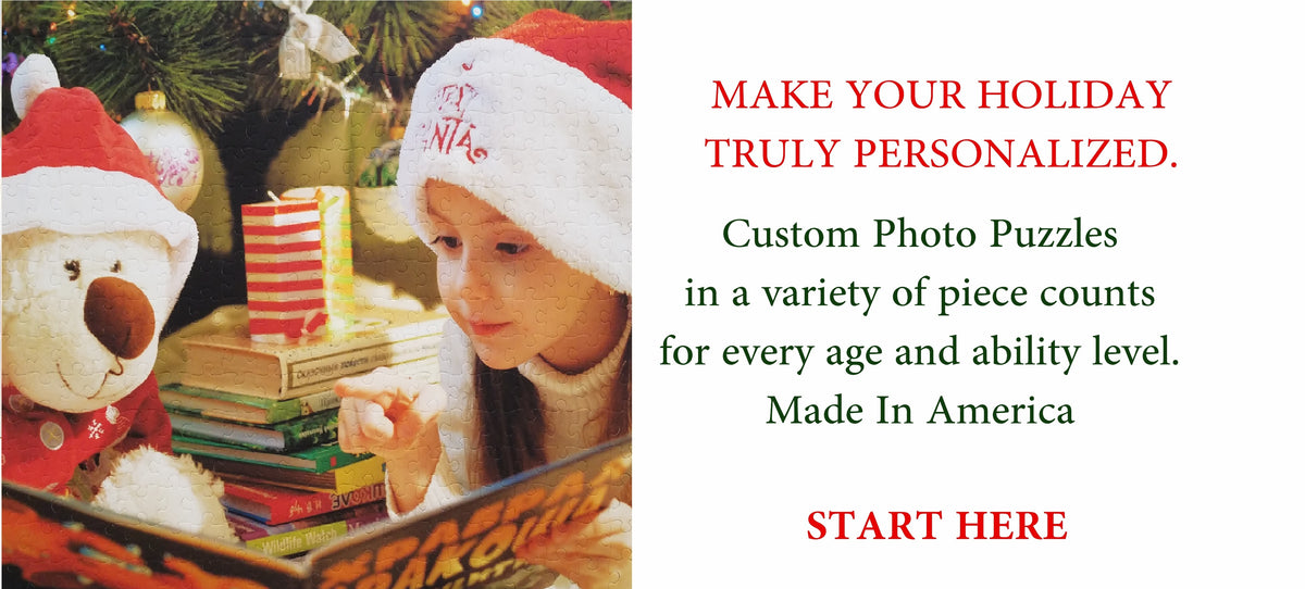 personalized puzzles from The Missing Piece Puzzle Company Holiday Collection