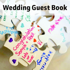 Wedding Guest Book Puzzle Signed