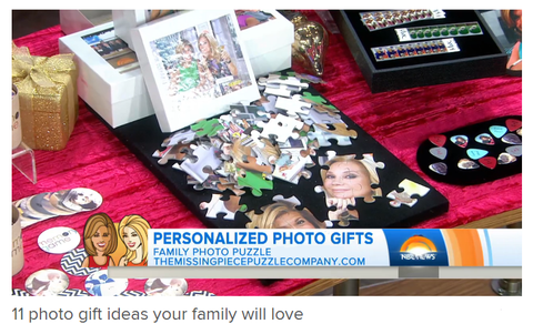 Today Show features The Missing Piece Puzzle Company for Best Personalized Puzzles