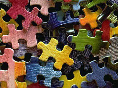 Assembling puzzle pieces without glue