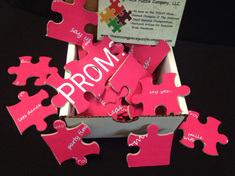 ask to prom with a jigsaw puzzle promposal