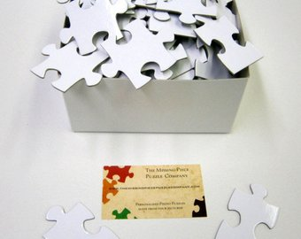 Blank White Puzzle for a Unique Wedding Guest Book  - 104 Puzzle Pieces (approx. 16 x 20)