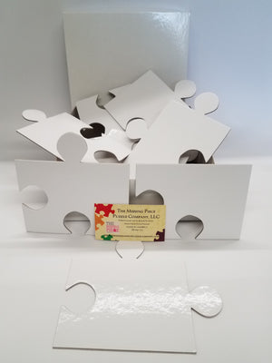 15 white puzzle pieces for wedding guest book