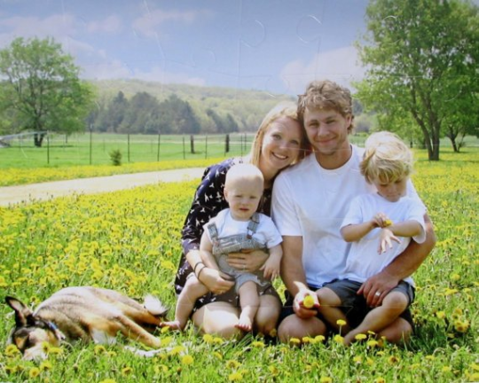 30 piece custom photo of family who is expecting child - The Missing Piece Puzzle Company