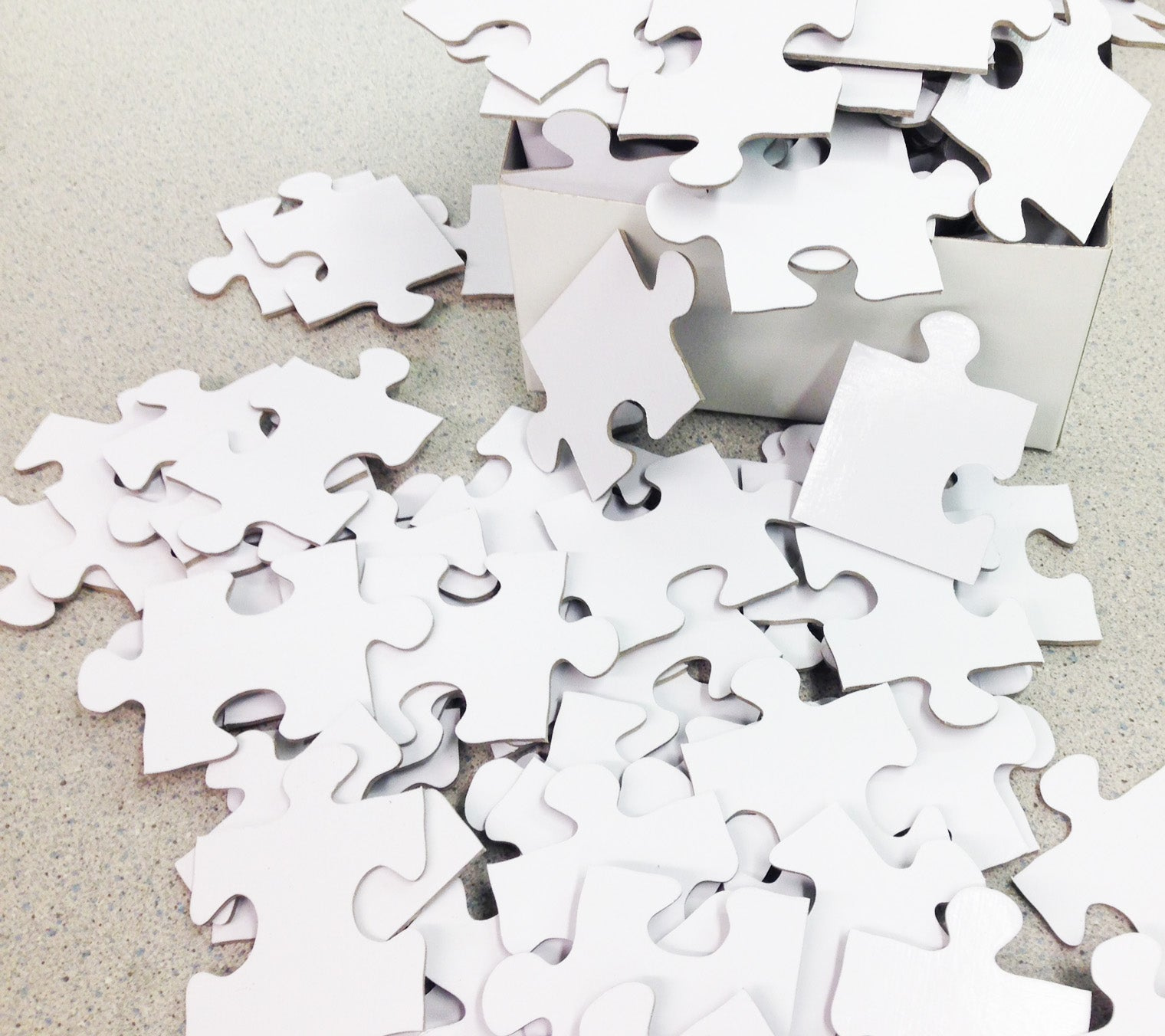 White Puzzle Pieces for Wedding Puzzle - The Missing Piece Puzzle Company