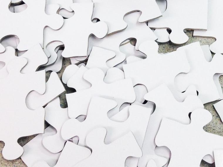 White Large Puzzle Pieces For Writing On.  The Missing Piece Puzzle Company