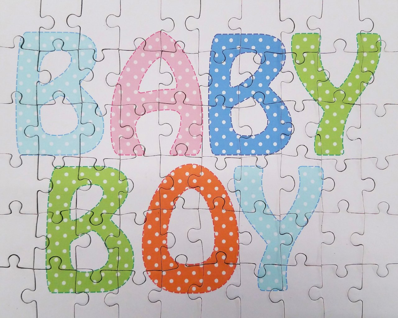 Gender Reveal Baby Boy Jigsaw Puzzle in 60 large pieces - The Missing Piece Puzzle Company