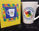 "Autism Awareness Coffee Cup ""Autism Touches Us All"""