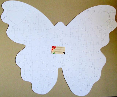 Butterfly Shaped Puzzle - Butterfly Shaped Puzzle For Wedding Guest Books