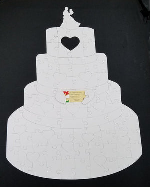 Wedding Cake Puzzle with whimsy - The Missing Piece Puzzle Company
