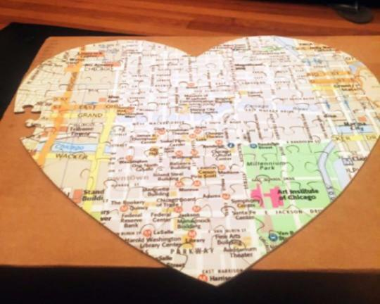 Custom Puzzle - Heart Shaped Custom Puzzle For Date Nite Fun.