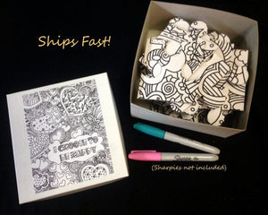 Custom Puzzle - Inspirational Coloring Book Puzzle. Unique Paint Party Idea