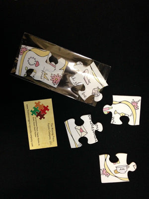 Custom Puzzle - YOUR DESIGN On A SET Of Custom Invitation Post Card Size Puzzles.  10 Puzzles Per Package.