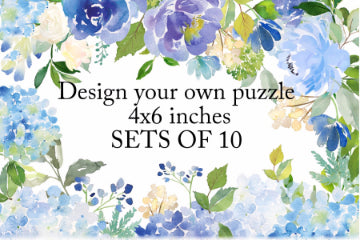 Your Design On A Set Of Custom Invitation Post Card Size Puzzles Sale On 10 Puzzles Per Package
