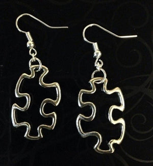 Jewelry - Silver Jigsaw Puzzle Earrings SALE
