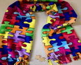Jigsaw Puzzle Scarf Widely Recognized For Autism Awareness