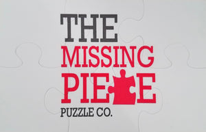 Corporate Puzzle 4x6 inch puzzle of logo for The Missing Piece Puzzle Company