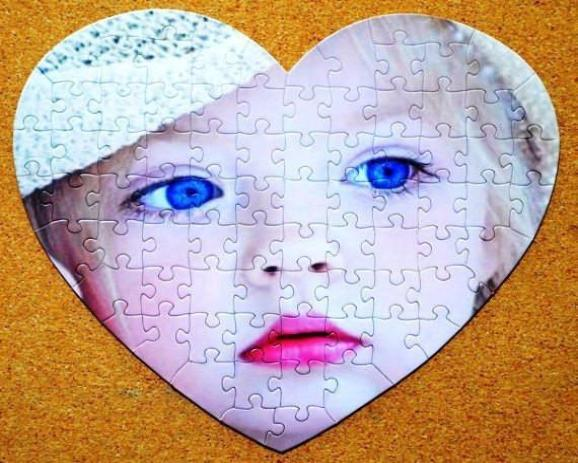 Marry Me!  Unique Personalized Gift, Heart Shaped Custom Jigsaw Puzzle