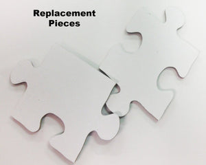 Missing Piece For White Puzzle.  Replacement Piece For White Jigsaw Puzzle
