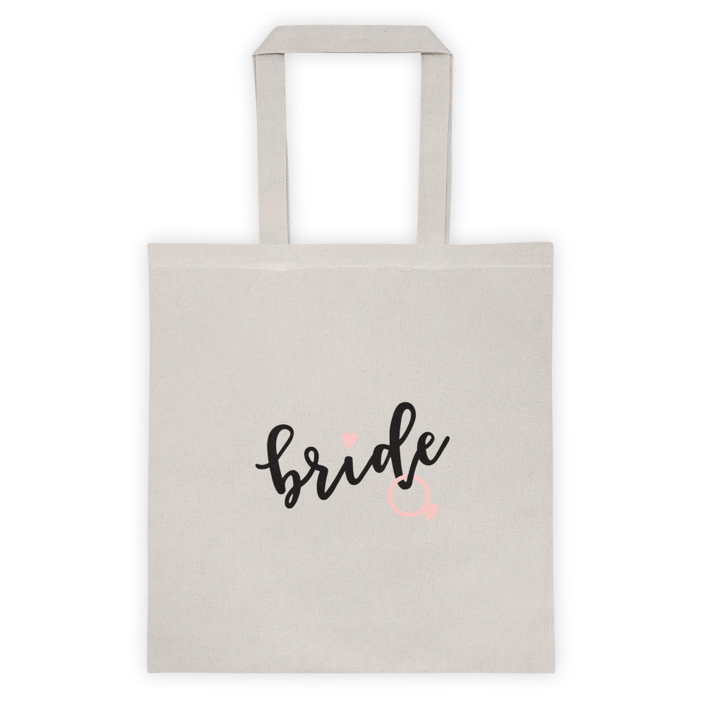 Wedding Tote Bag - BRIDE.  Canvas