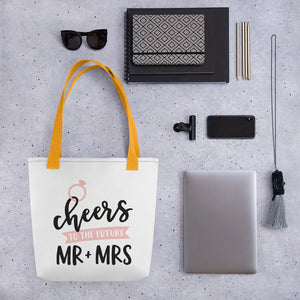 cheers to the new mr. and mrs. bridal shower gift.