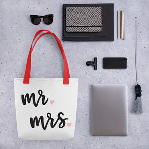 Tote bag = Mr. Mrs.