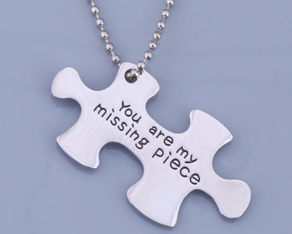 Puzzle piece necklace you are my missing piece the missing piece puzzle piece necklace you are my missing piece aloadofball Gallery