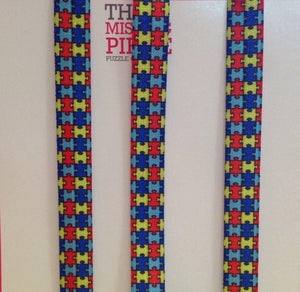 Three (3) Autism Awareness Headbands. FOE For A Cause.  Jigsaw Puzzle Headbands.