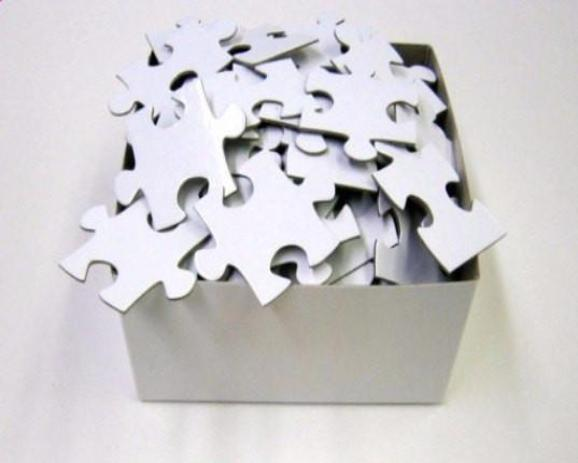 Extra Large Blank White Puzzle Pieces Wedding Guest Book For
