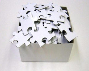 Wedding - Extra Large Blank White Puzzle Pieces Guest Book For Large Wedding