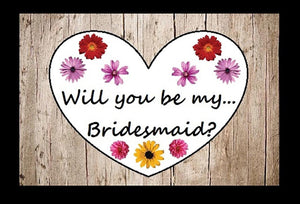 Wedding - Heart Design Will You Be In My Wedding Puzzle.  Ask Your Bridesmaid, Flower Girl (4x6 Inches)