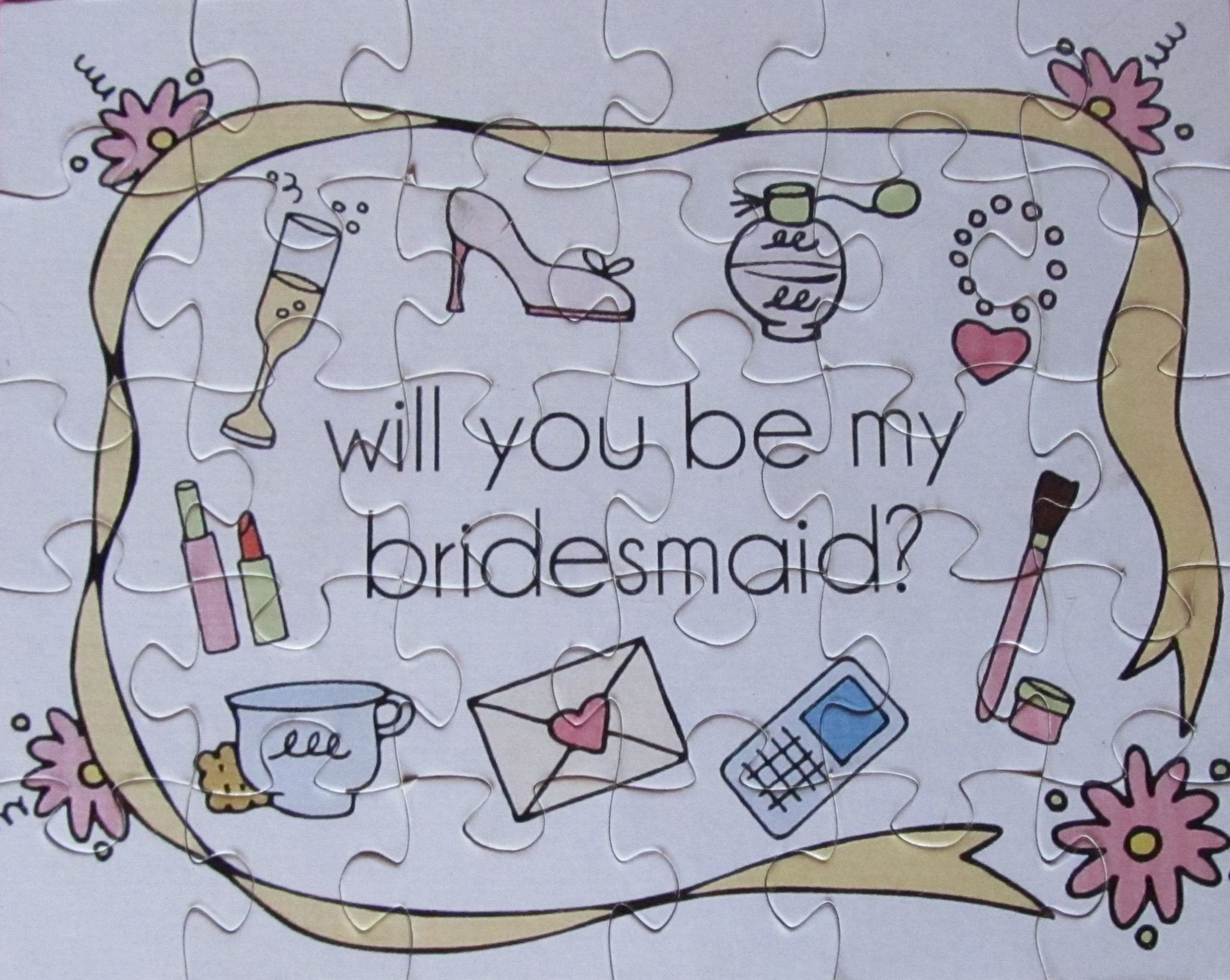 Wedding - Large 8x10 Inch Puzzle Asking Your Girls To Be In Your Wedding.  Personalize Your Own Design. (8x10)