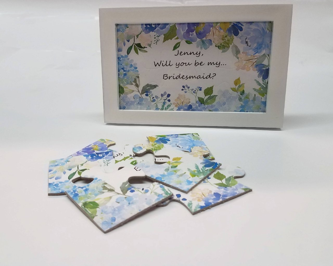 "Wedding - Personalized  Will You Be My Bridesmaid, flower Girl Puzzle?  Junior Bridesmaid?  Maid Of Honor? (4""x6"")"