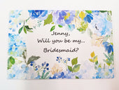 "Wedding - Personalized  Will You Be My Bridesmaid Puzzle?  Junior Bridesmaid?  Maid Of Honor? (4""x6"")"