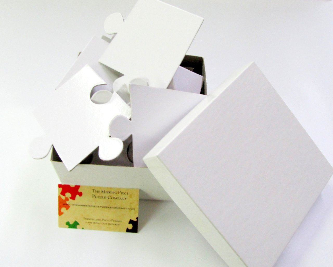 Wedding - White Wedding Guest Book Puzzle With 30 Extra Large Puzzle Pieces