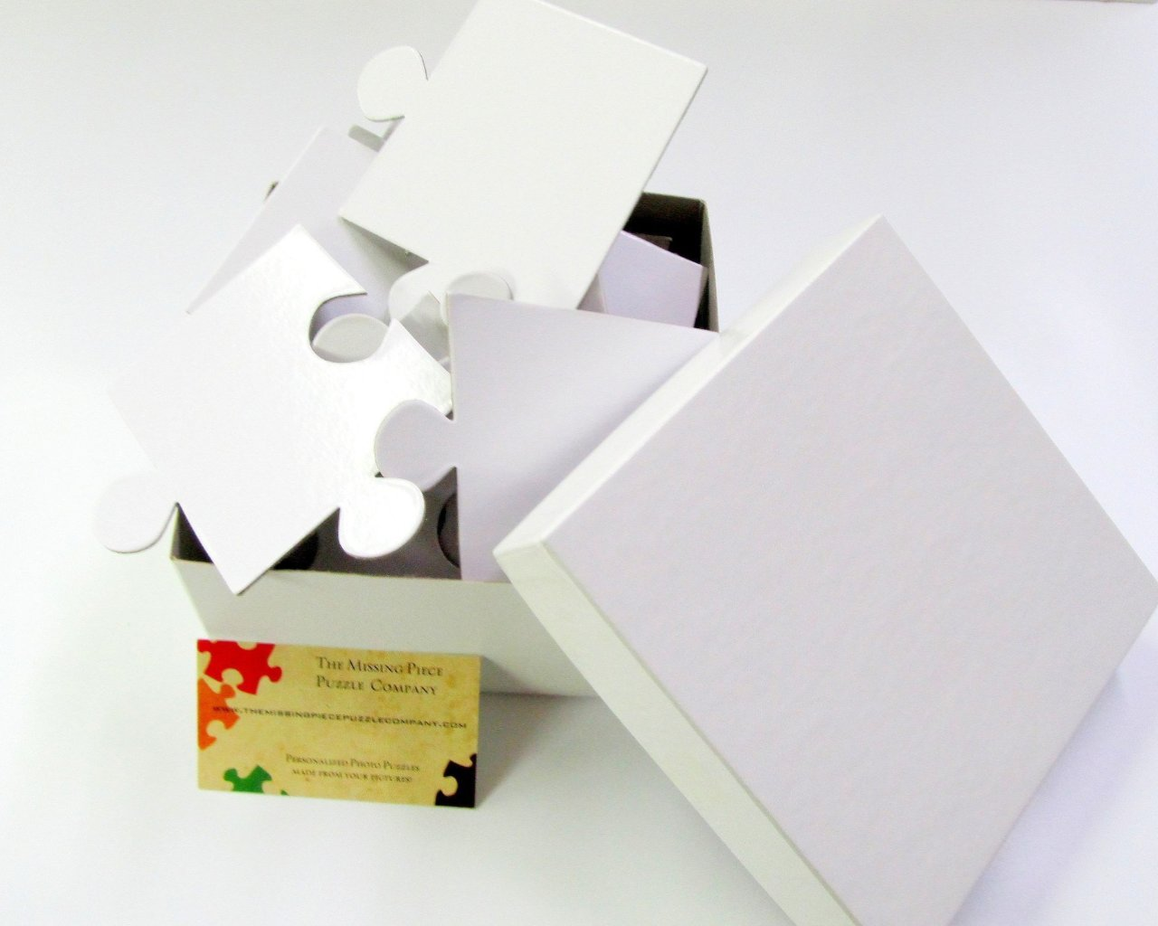 Wedding - White Wedding Guest Book Puzzle With 30 XL Pieces