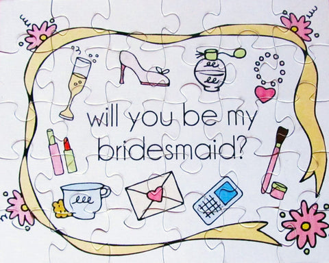 Wedding - Will You Be In My Wedding Puzzle.  Ask Your Bridesmaid, Flower Girl (8x10)