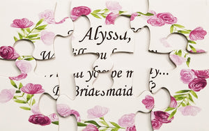 Will You Be My Bridesmaid Jigsaw Puzzle.  Ask Flower Girl With A Keepsake