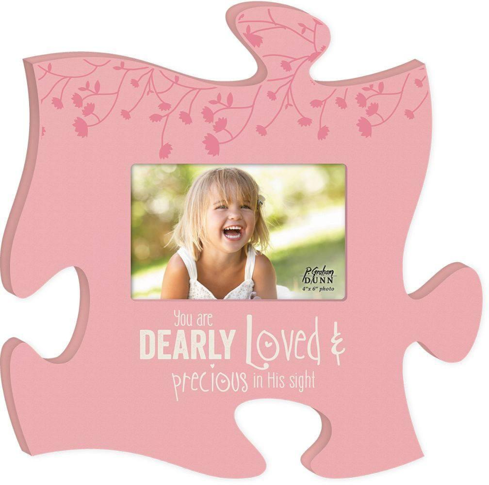 Wood Puzzle For Girls Room - You Are Dearly Loved - Photo Frame