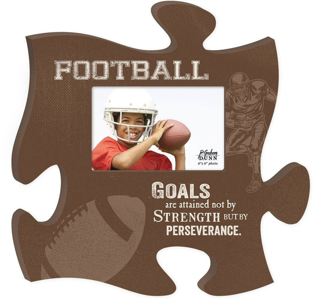 Wooden Puzzle Piece Wall Hanging - Sports Series Options Football, Basketball, Soccer, Hunting