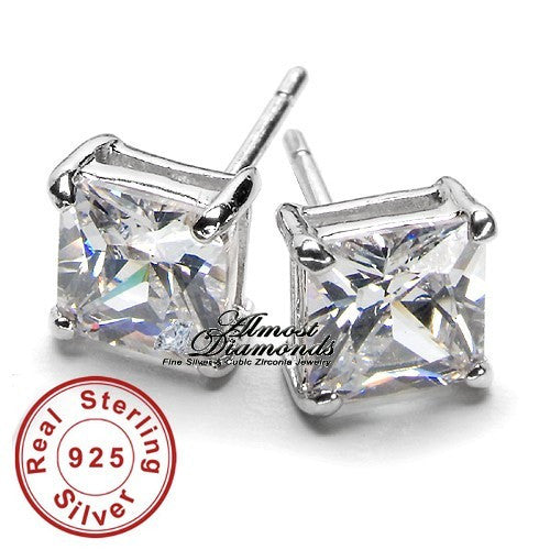 1.5 TCW Princess Stud Earrings