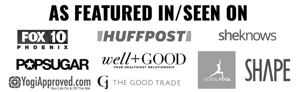 Press HuffPost, Popsugar, The Good Trade, Shape Magazine