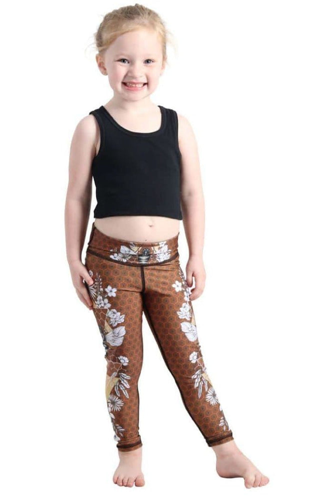 Yoga Democracy Girls Leggings Kids Beeloved Yoga Leggings