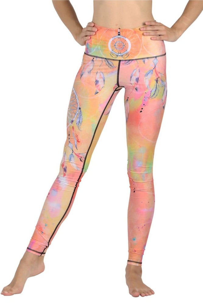 Papa Don't Peach Printed Yoga Legging - Final Sale