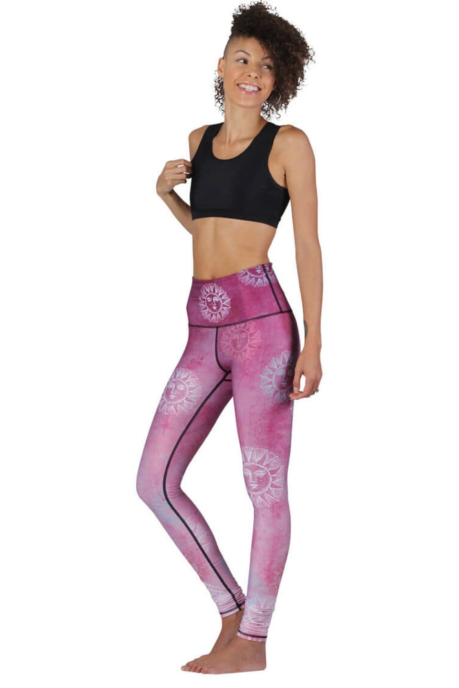 Yoga Democracy Leggings Sun Salutation Printed Yoga Legging