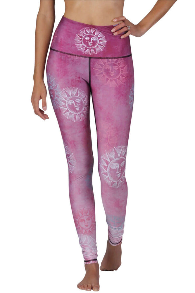 Sun Salutation Printed Yoga Legging