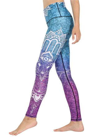 Yoga Democracy Leggings Third Eye Chakra Printed Yoga Legging
