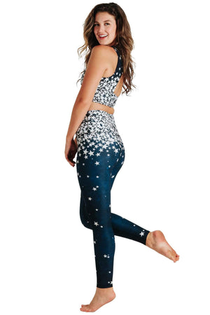 Yoga Democracy Leggings Star Struck Printed Yoga Leggings