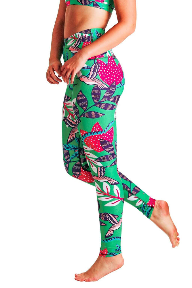 Early Bird Printed Yoga Leggings